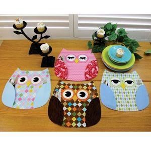 Who's Place Owl Place Mats Pattern