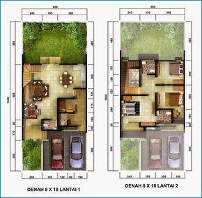 denah rumah minimalis 2 lantai sederhana | denah rumah