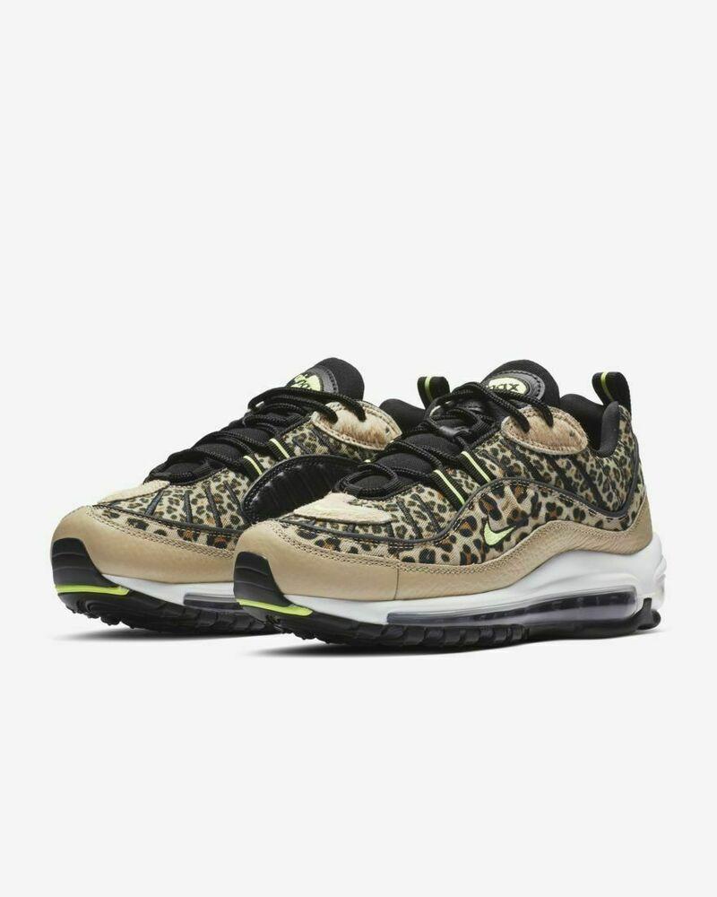 quality design 3f638 a863f Nike Air Max 98 Desert Ore Volt Glow-Black Leopard Womens ...