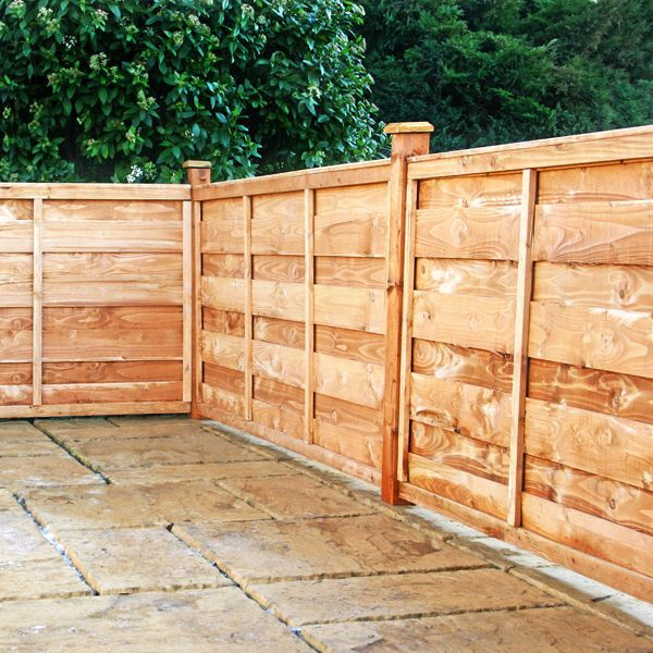 Horizontal Privacy Fence Designs | Hit and Miss Horizontal Garden ...