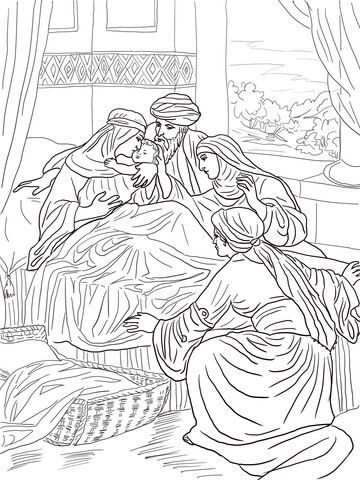 The Birth Of John The Baptist Coloring Page Coloring Pages Free Coloring Pages John The Baptist