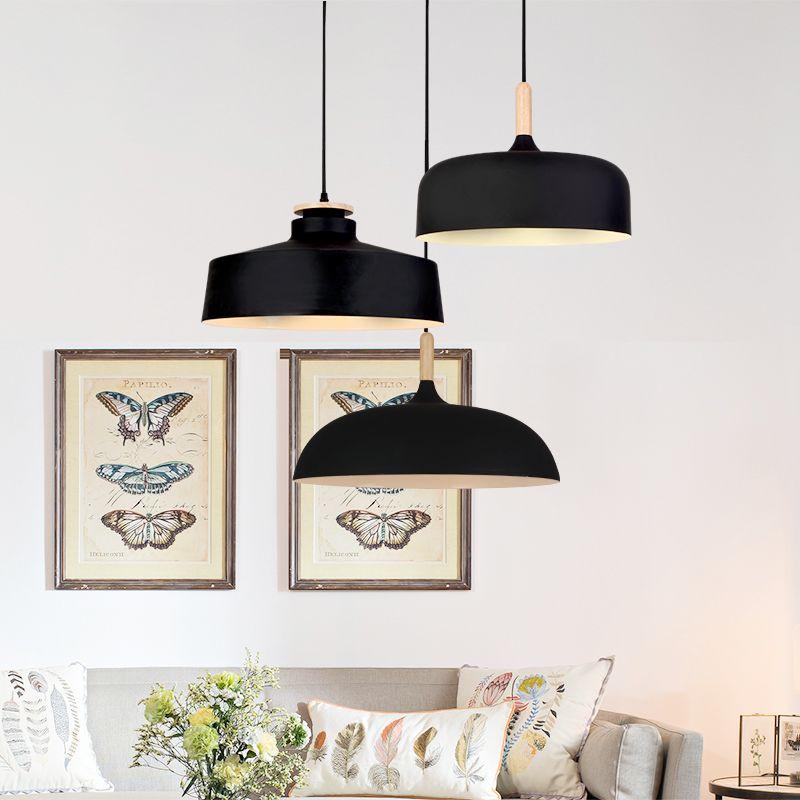 Simple modern restaurant chandelier creative retro single head ...