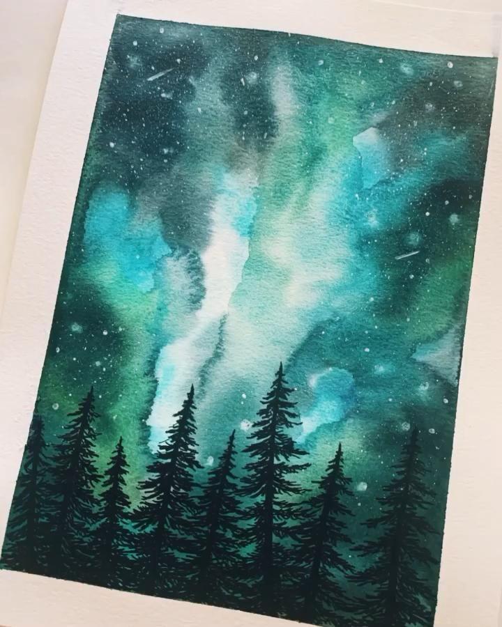 Watercolor Galaxy Video