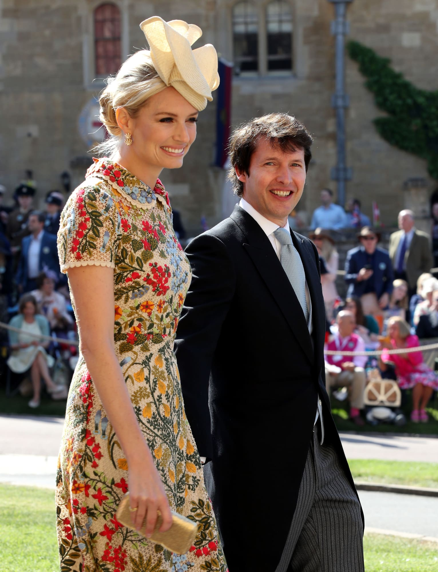 Sofia Wellesley and James Blunt at the Royal Wedding  sofiawellesley   jamesblunt  royalwedding  fascinator 9889bae8199f