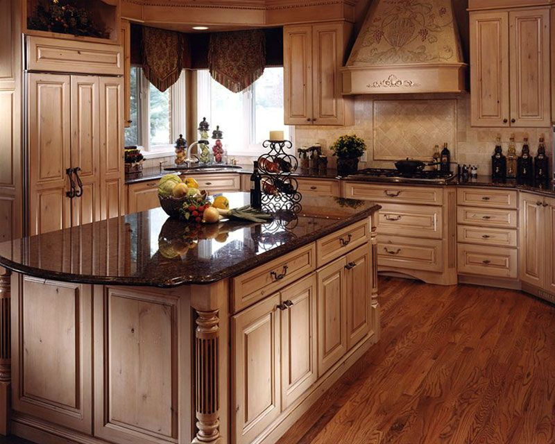 knotty alder brown pearl - Google Search | Rustic kitchen ...
