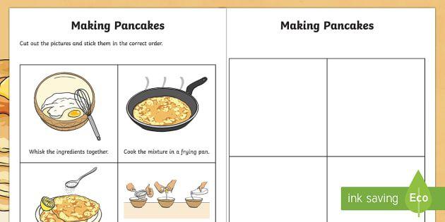 NEW * Making Pancakes Sequencing Activity Sheet | Making