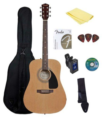 Fender Starter Acoustic Guitar Pack Find Out More About The Great Product At The Image Link Note Amazon Guitar Fender Acoustic Guitar Best Acoustic Guitar