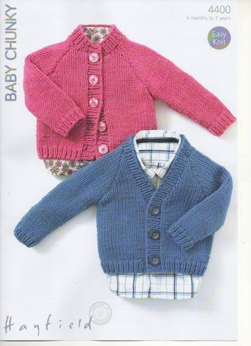 NEW FOR SPRING 2013 Hayfield Baby Chunky - Baby Cardigan Knitting ...