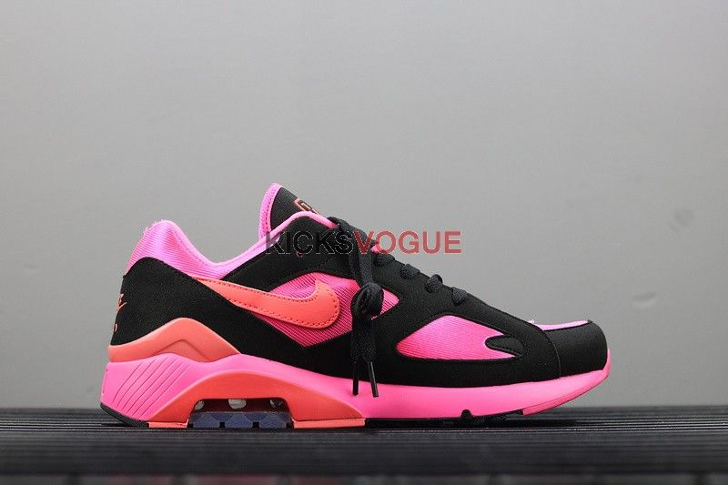 timeless design c9fae f558f COMME des Garcons x Nike Air Max 180 CDG Homme Plus LASER PINK SOLAR  RED-BLACK AO4641-601