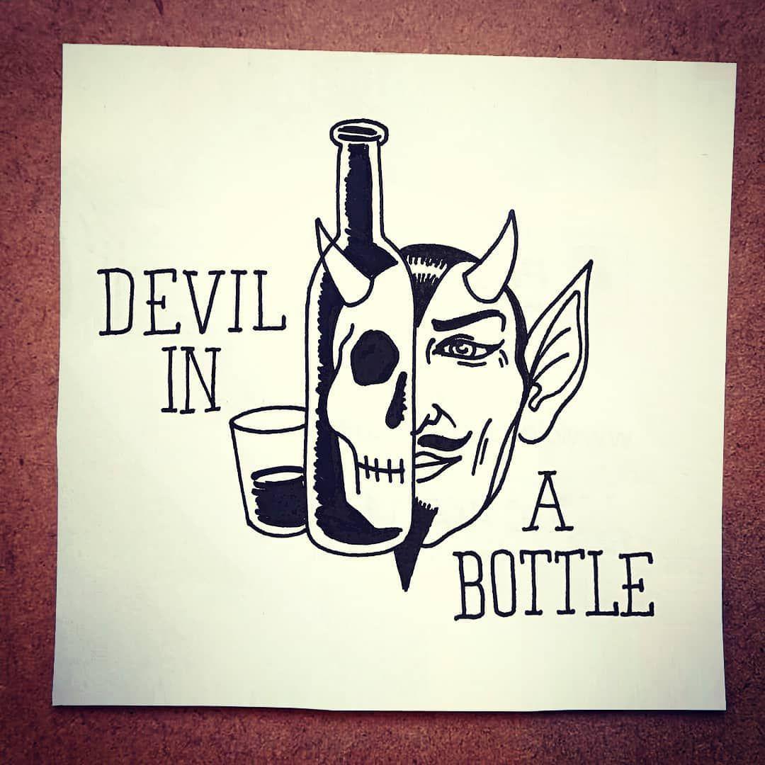 #sketch #devilinabottle #devil #blues #tattoo #blacktattoo #barcelona