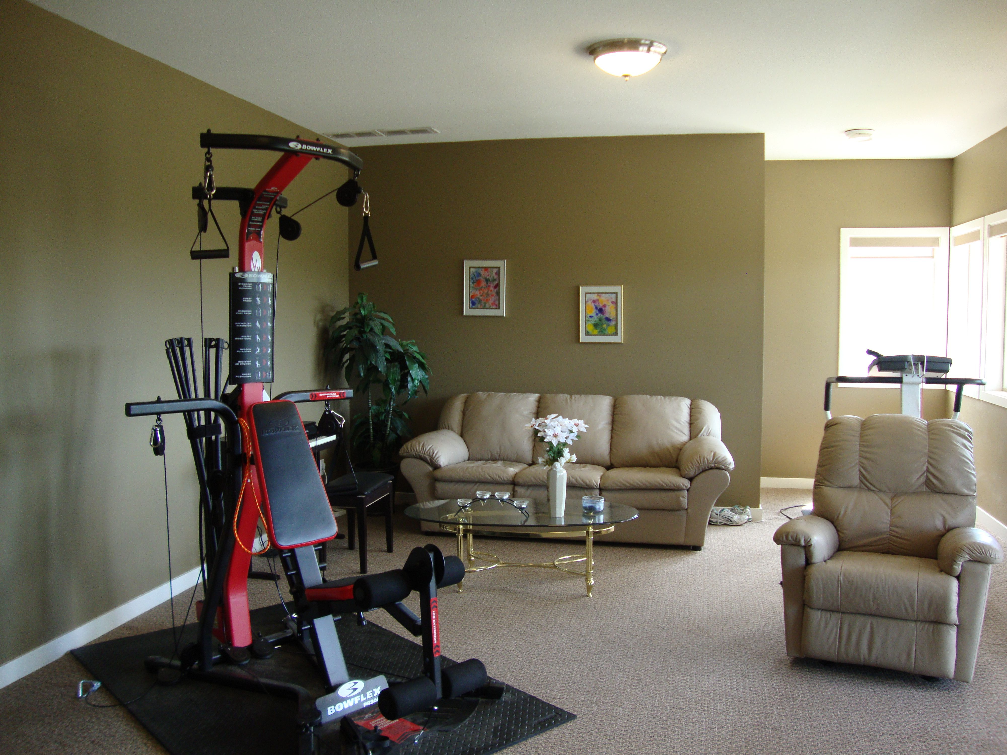 Golfandlakeviewbedandbreakfast Wp Content Uploads 2013 07 Optional Gym Equipment In Living Room Area
