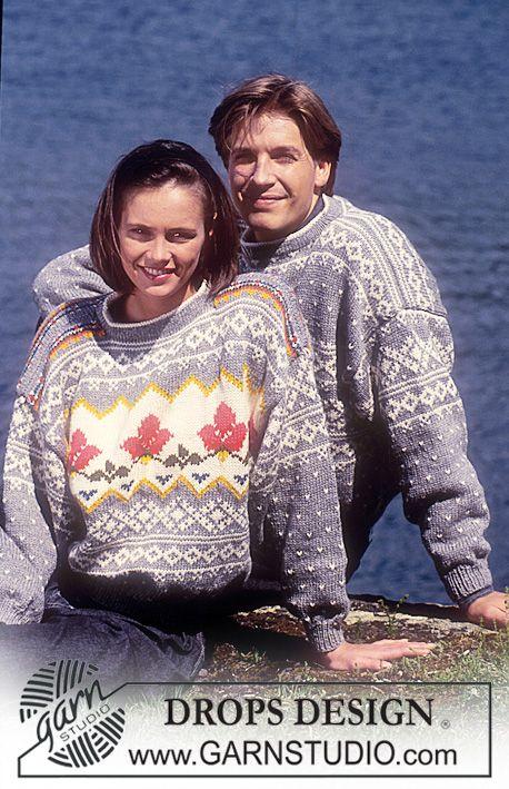 DROPS dame og herre genser i Alaska med nordisk Gamle Border ~ DROPS Design