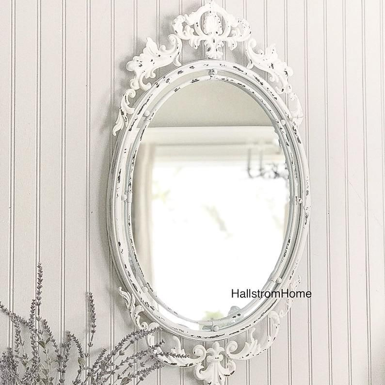 Shabby Chic Mirror White Vanity Mirror Shabby Chic Mirror Shabby Chic Decor Shabby Chic Wall Decor