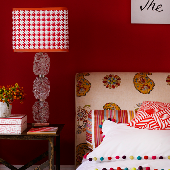 Bright And Bold Guest Bedroom: Bedroom Colors, Bedroom Red, Guest
