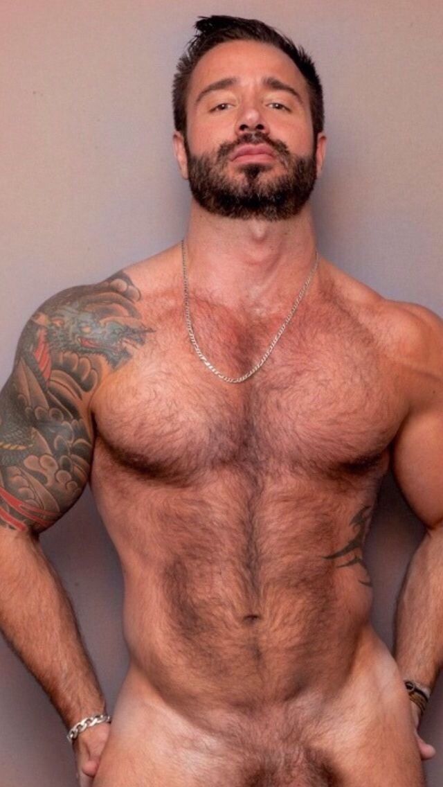 Hot gay hairy men