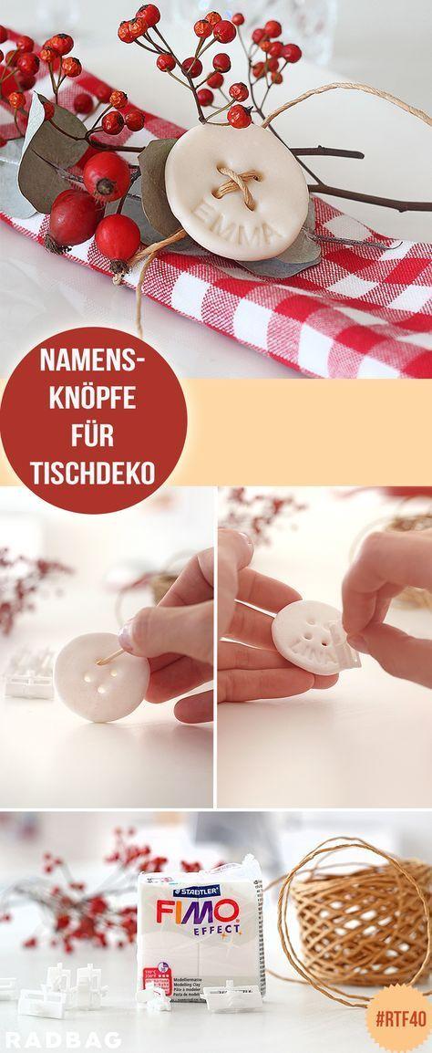 Namens-Deko für deinen Weihnachtstisch