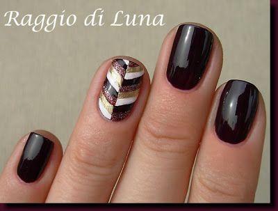 Raggio di Luna Nails: Broken stripes  Free Nail Technician Information   http://www.nailtechsuccess.com/nail-technicians-secrets/?hop=megairmone   More Fashion at    www.thedillonmall.com