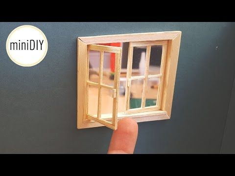 DIY Miniature Terrace Door - miniDIY - YouTube Miniaturas Tutorial