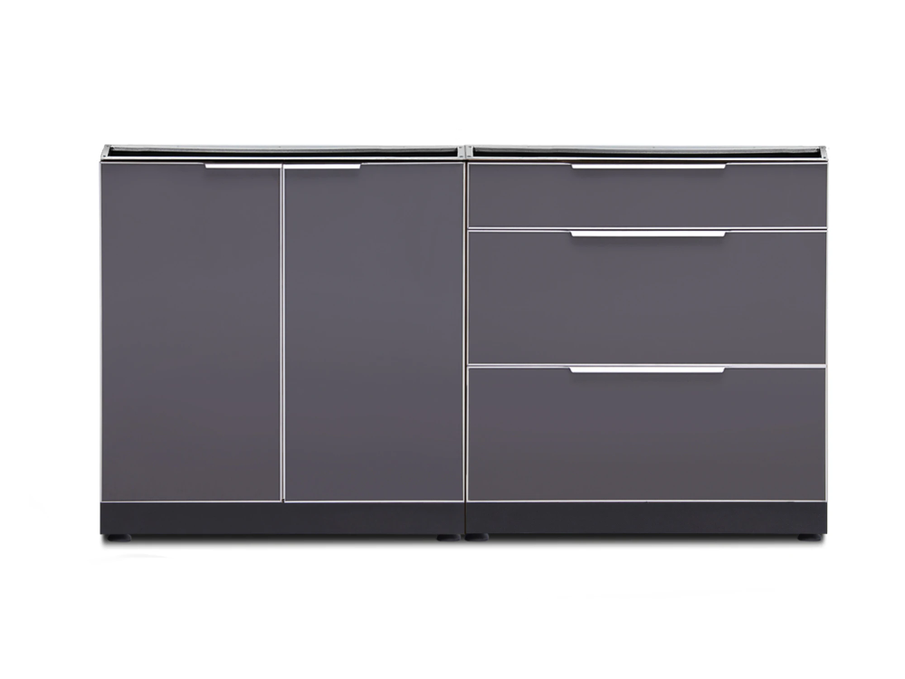 Newage Outdoor Kitchen 2 PC Cabinet Set in Slate Gray ...