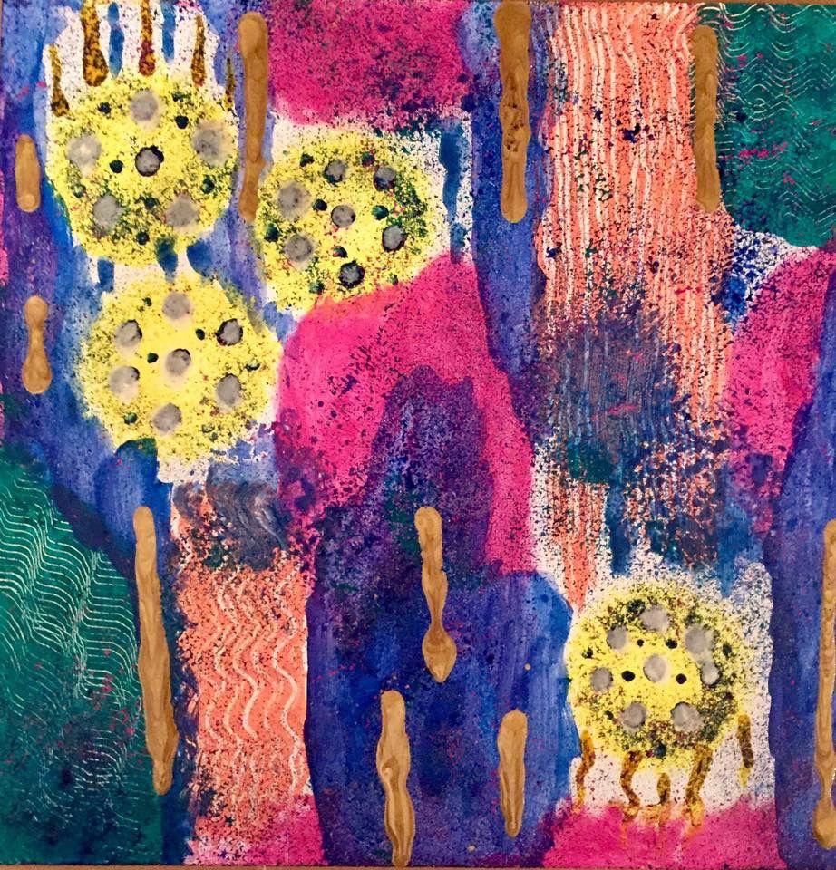 piñata by tina mokuau acrylic pebeo paint abstractart artistlfe