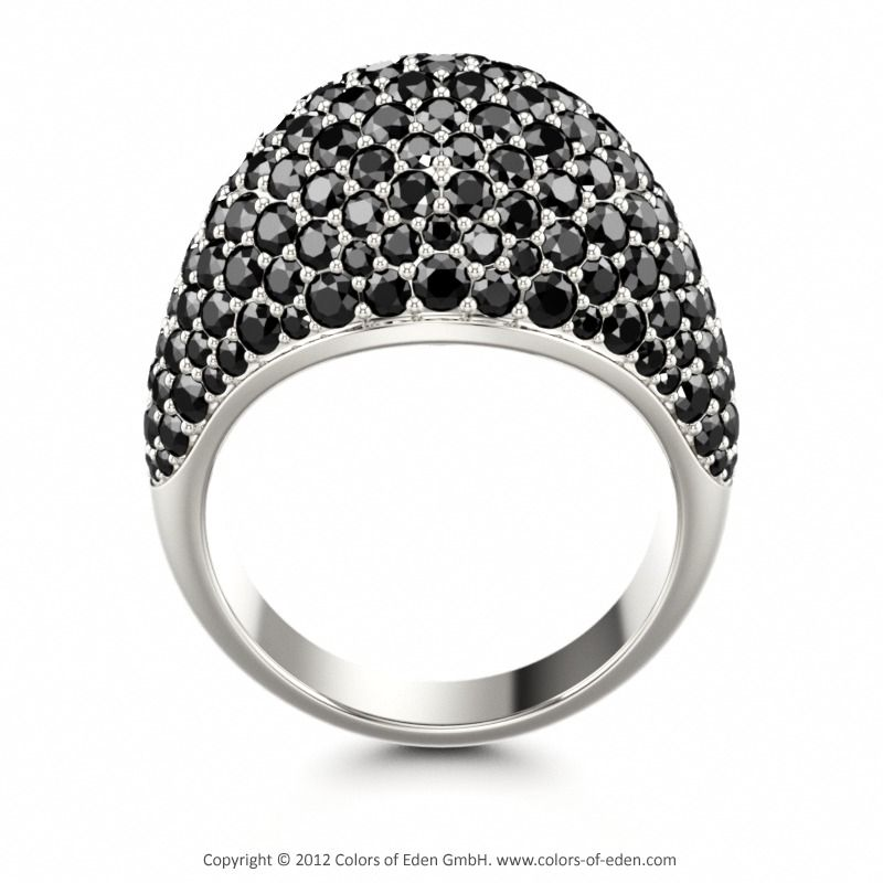 Pave Set Ring PATHOS at Colors of Eden #black #diamond
