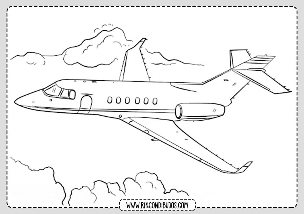 Dibujo De Avion En El Aire Rincon Dibujos Aviones Para Dibujar Avion Dibujos Paginas Para Colorear Para Ninos