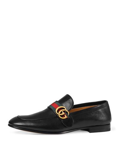 afc1456a7 GUCCI DONNIE WEB LEATHER LOAFER. #gucci #shoes # | Gucci Men ...