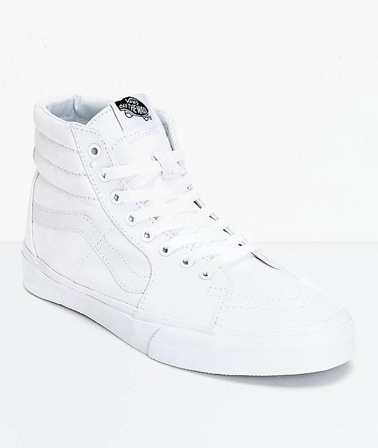 Vans Sk8-Hi True White Canvas Skate