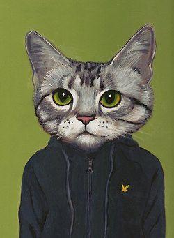 Mesdelosgatos Pintura De Gato Ilustraciones De Gato Pinturas De Gato