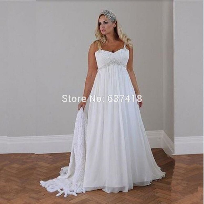 Boho Wedding Gowns Plus Size Casual Beach Wedding Dress Maternity Bridal Dress Pregnant Wedding Dress