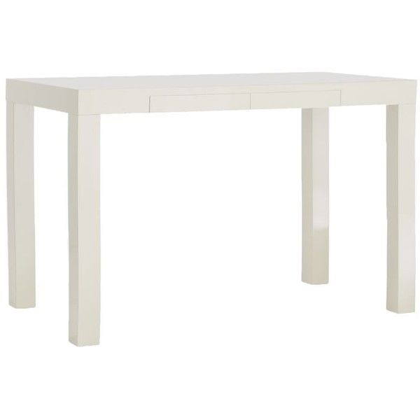 West Elm Parsons Desk   White (525 CAD) ❤ Liked On Polyvore Featuring Home