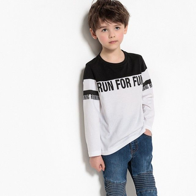 7c81dab05b834 Long-Sleeved T-Shirt, 3-12 Years. La Redoute online store, free delivery and  ...