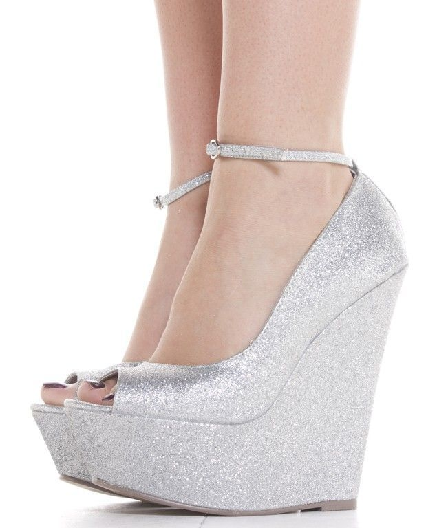 Silver Wedges Wedding Shoes Height Comfort And Bling Wedge 635x768