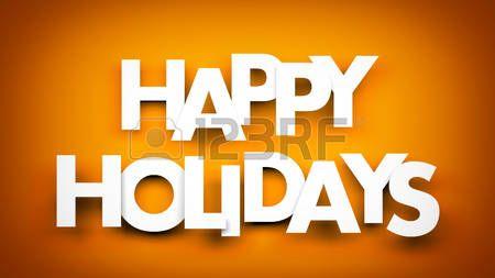 3d holiday: Felices fiestas palabra