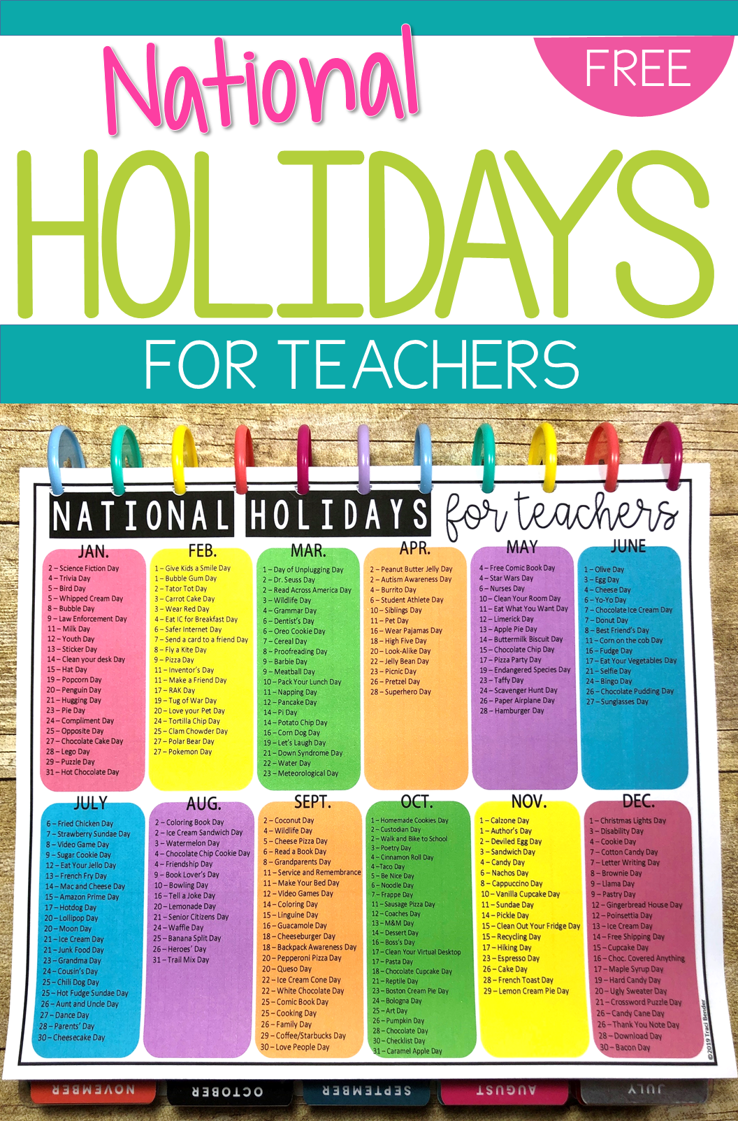 National Holidays For Teachers National Holiday Calendar School Holiday Calendar Holiday Calendar