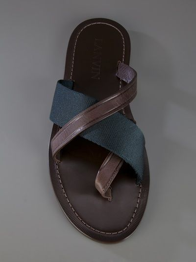 3a5e9d042293 Lanvin Sandal - Bernardelli ( 200-500) - Svpply Leather Slippers