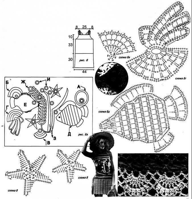 675x699, 166Kb) | вязание | Pinterest | Crochet irlandés, Cosas para ...