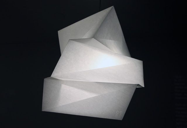 A sculpture of shadow and light: IN EI Lamp by Issey Miyake