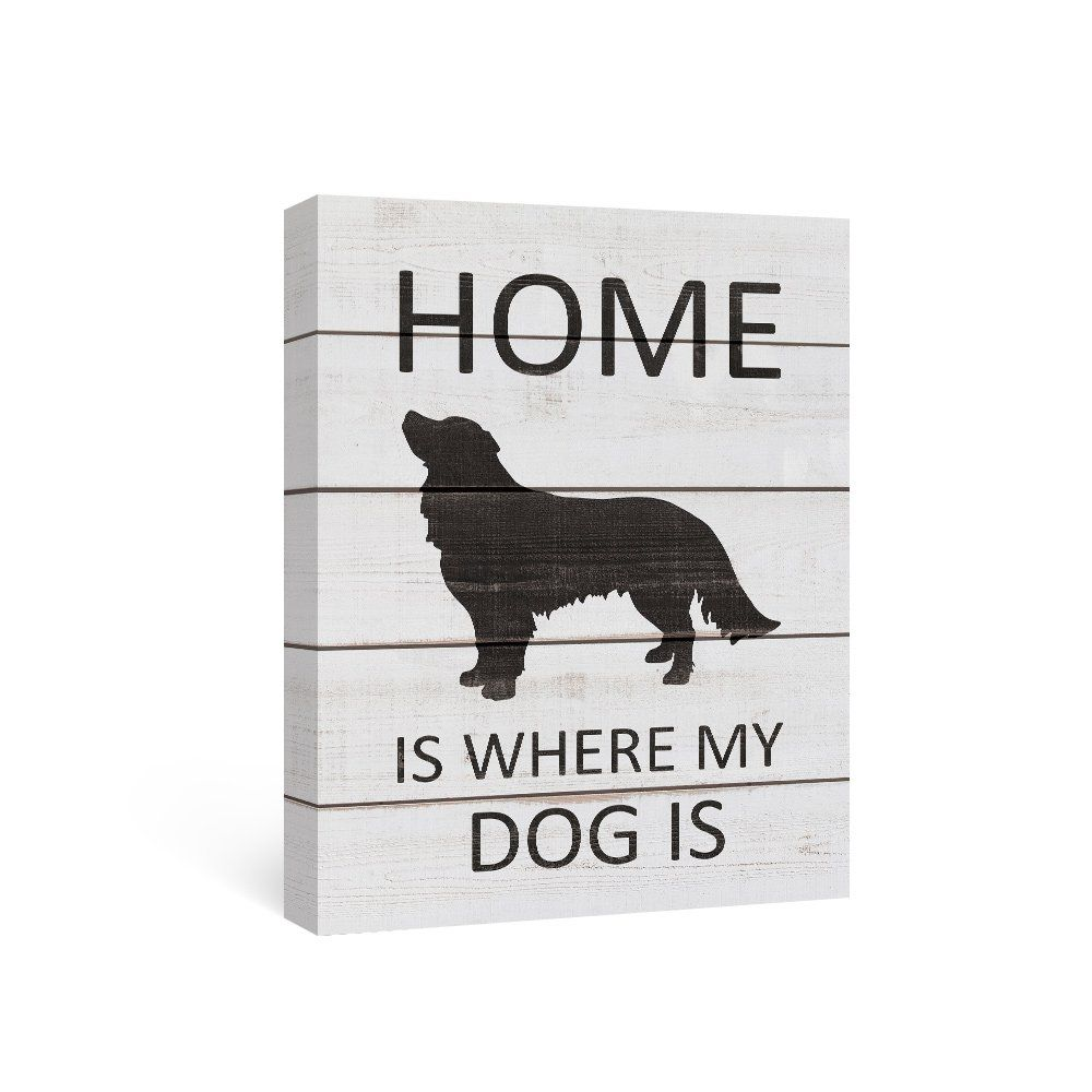 Sumagr black and white wall art quotes on canvas dog wall decor