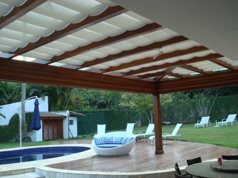 Cortinas de teto para casa e pergolados cortinas for Cortinas para pergolas