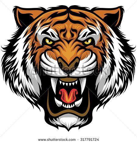 angry tiger face | Сток-иллюстраторы, с которых брать ...