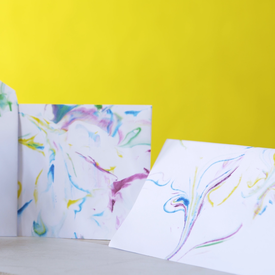 DIY Paper Marbling with Shaving Cream