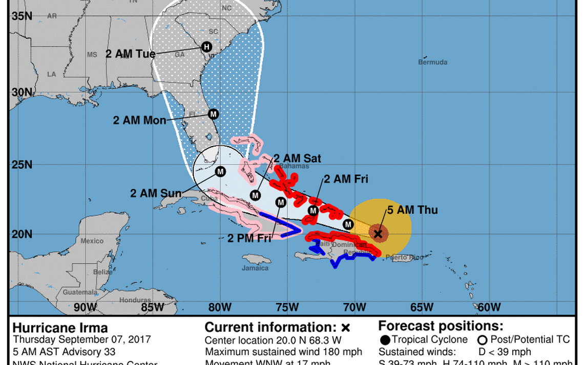 Hurricane Irma Storm Kills 8 In Caribbean As It Continues Florida Track Miami Herald Hurricane Storm Storm Center