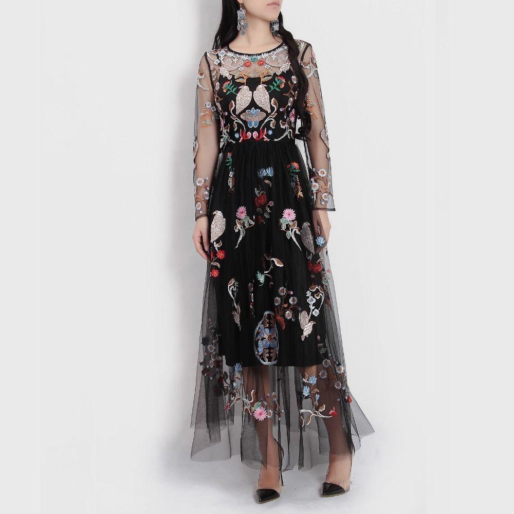 Summer highquality design runway maxi dress women long sleeve