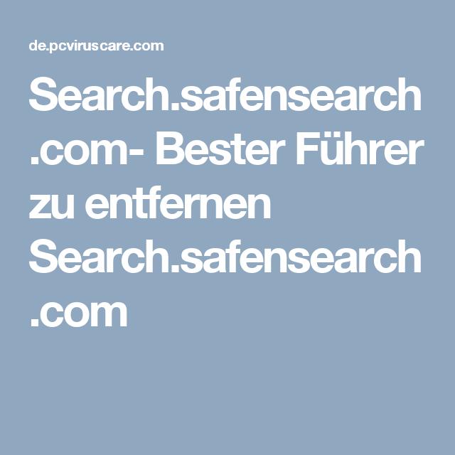 Search.safensearch.com- Bester Führer zu entfernen Search.safensearch.com