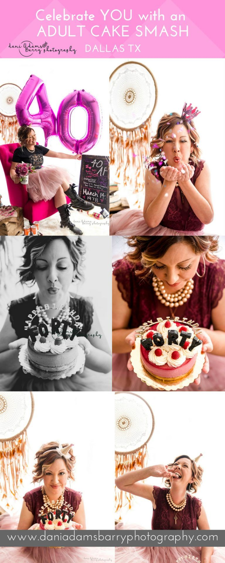 Celebrate You With An Adult Cake Smash Photo Shoot Dallas Texas Photography Sessions Now Booking Dani Adams Barry
