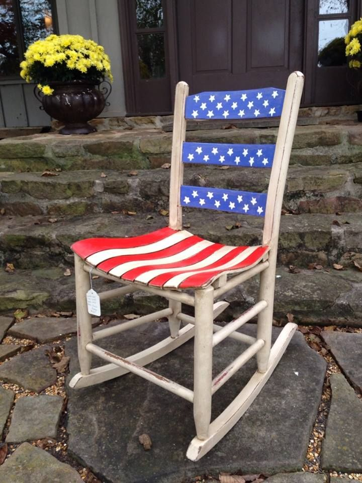 Fabulous Red White Blue Child Size Rocker See More At Pdpeps Interior Chair Design Pdpepsorg