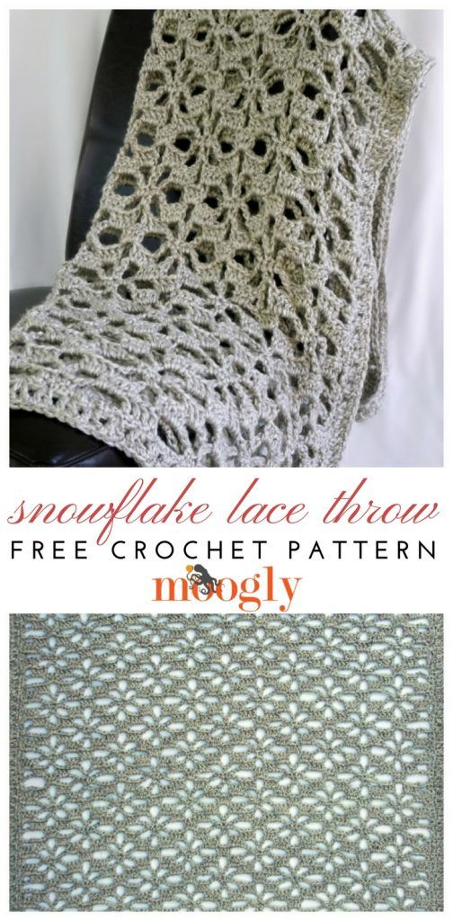 Snowflake Lace Throw Free Crochet Pattern On Moogly Make It With