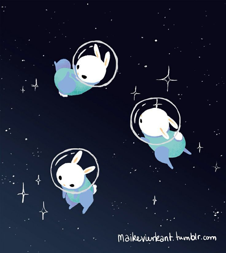 cute astronaut tumblr Google Search Bunny art