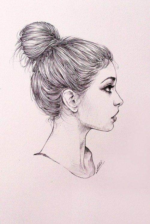 Art draw girl hair sad surprise tumblr more